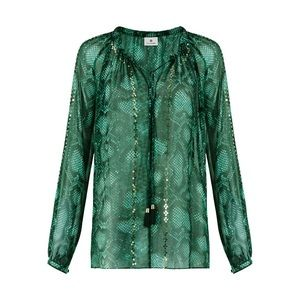 💕 ALTUZARRA for target snake print blouse